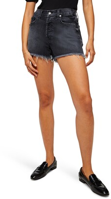 7 For All Mankind Monroe High Waist Cutoff Denim Shorts