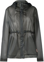 Hunter hooded raincoat - women - Polyurethane - L