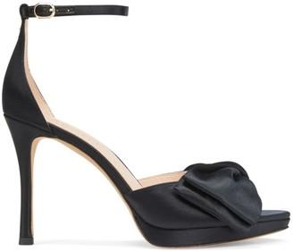 Kate Spade Bridal Bow Platform Satin Sandals