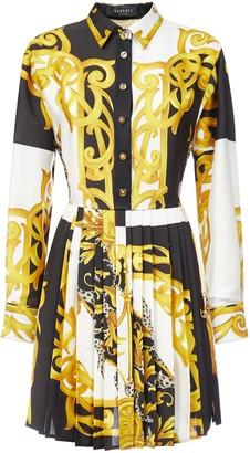 Versace Baroque-print Silk Shirt Dress