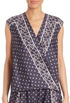 3.1 Phillip Lim Silk Scarf-Print Top