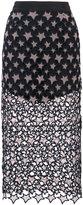 Fleur Du Mal Galaxy pencil skirt - women - Silk - 0