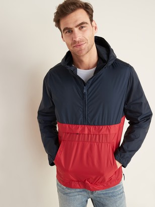 Old Navy Water-Resistant Packable 1/2-Zip Hooded Jacket for Men