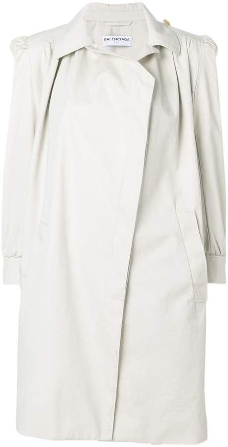 Balenciaga Trench coat with shoulder pads