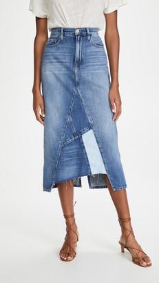 Frame Le Midi Skirt Patch Work