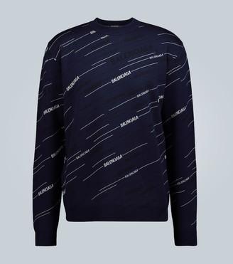 Balenciaga Diagonal logo crewneck sweater