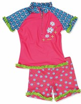 Playshoes Baby-Girls UV Sun Protection Swim Diaper Flowers Swim Nappy