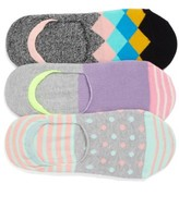 Happy Socks Women's Assorted 3-Pack Liner Socks