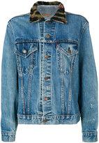 R 13 painted denim jacket - women - Cotton - S