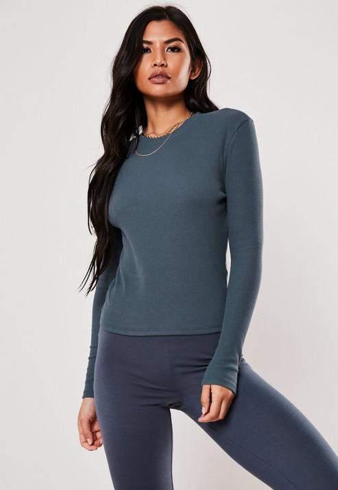 ed81275e Long Sleeve Rib T-shirt - ShopStyle