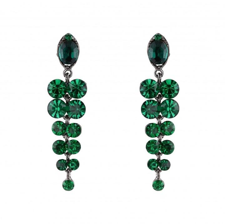 Love Rocks Crystal Grape Chandeleir Earrings