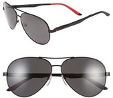 Carrera Men's Eyewear 59Mm Metal Aviator Sunglasses - Matte Black/ Grey