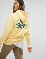 Stussy Long Sleeve Hoodie With Pocket And Back Print