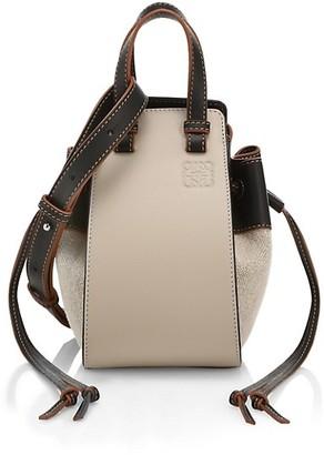 Loewe Mini Hammock Leather & Canvas Bag