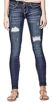 GUESS Women's Sienna Curvy Skinny Jeans in Dark Destroy Wash