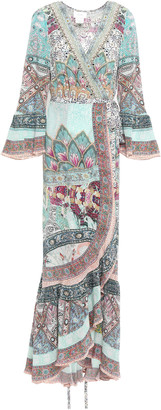 Camilla Sister Of The Marigold Silk Maxi Wrap Dress