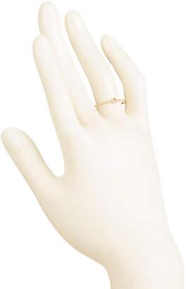 Made In Usa 14k Gold Milgrain Bezel Set Cz Beaded Band Ring