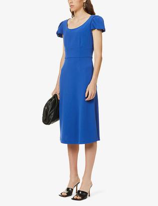 Diane von Furstenberg Ivanna flared-sleeve crepe midi dress