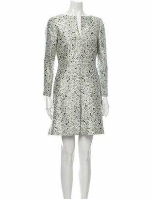 Tory Burch Silk Mini Dress Green