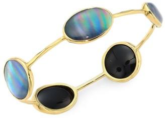 Ippolita Rock Candy 18K Yellow Gold & Triplet 5-Station Bangle Bracelet