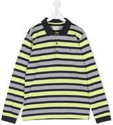 Armani Junior striped polo shirt