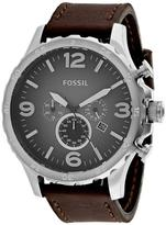 Fossil Nate Chronograph Collection JR1424 Men's Leather Strap Watch with Chronograph