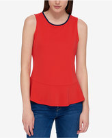 Tommy Hilfiger Sleeveless Peplum Top, Only at Macy's
