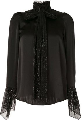 Paule Ka Sequin-Embellished Blouse