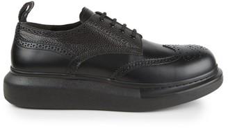 Alexander McQueen Brogue Platform Leather Shoes