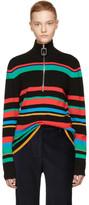 J.W.Anderson Multicolor Merino Zip Turtleneck