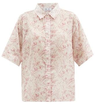Sir - Caprice Floral-print Cotton-blend Shirt - White Print