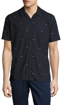 Fendi Graphic Spread Collar Sportshirt