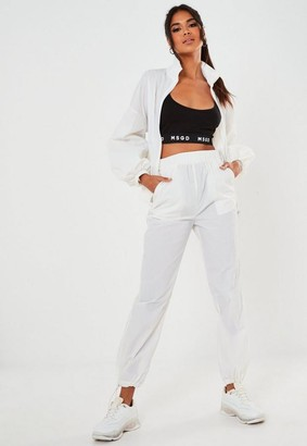 Missguided White Co Ord Drawstring Joggers