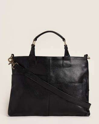Latico Leathers Black Large Pocket Satchel