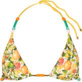 Stella McCartney Beaded printed triangle bikini top