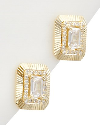 Alanna Bess Limited Collection 14K Over Silver Cz Earrings