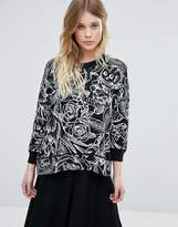French Connection Tattoo Jumble Print Wool Mix Knit Sweater