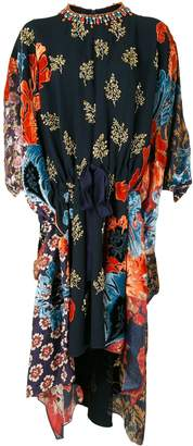 Biyan Lofre bead-embellished velvet panel dress