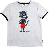 Karl Lagerfeld Cat Printed Cotton Jersey T-Shirt