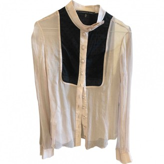 Alessandro Dell'Acqua Beige Silk Top for Women