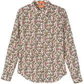 Joe Fresh Women's Silk Button Down Shirt, Khaki Green (Size S)