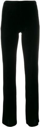 Blanca velvet flared trousers