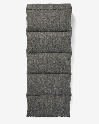 Express Charcoal Puffer Scarf