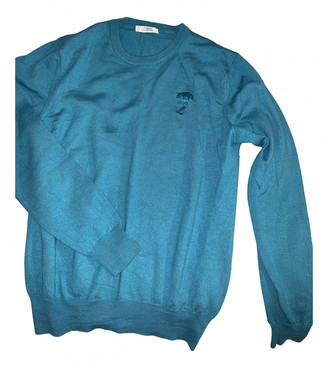 Versace Turquoise Wool Knitwear & Sweatshirts