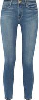 Frame Le Skinny De Jeanne Crop Mid-rise Jeans - Mid denim