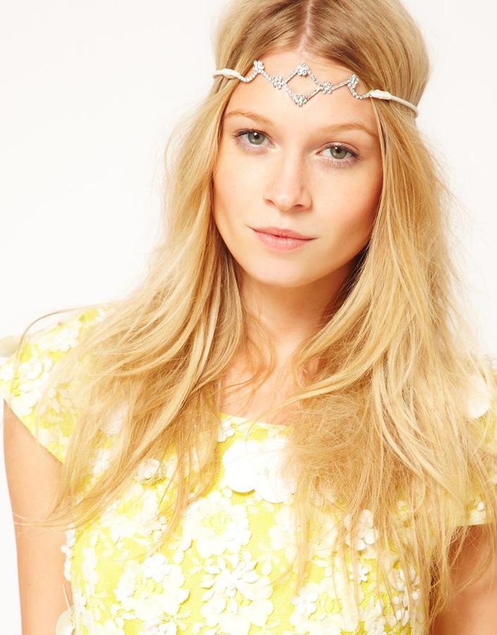Asos Diamante Tiara Stretch Headband