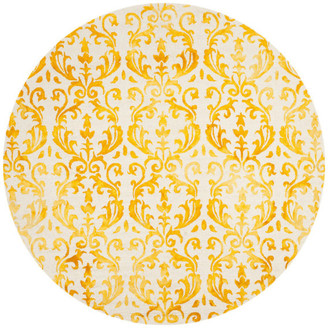 Safavieh Dip Dye Collection DDY689 Rug, Ivory/Gold, 7' Round