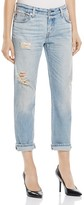 Levi's 501 Distressed Boyfriend Jeans in Off Road