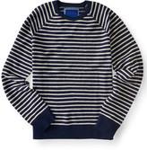 Textured Stripe Crew Sweater