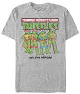 Fifth Sun Holiday Heros Mens Crew Neck Short Sleeve Teenage Mutant Ninja Turtles Graphic T-Shirt